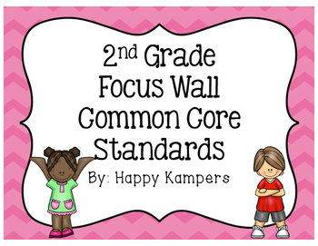 "Second Grade Common Core Standard ""I Can"" Focus Wall"