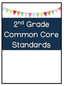 Second Grade Common Core Standards At-Glance and Checklist (ELA and MATH)