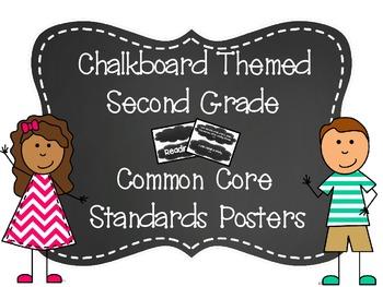 Second Grade Common Core Standards (Chalkboard)