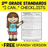 Second Grade Common Core Standards I Can Checklists 1