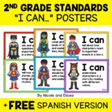 Second Grade Common Core Standards I Can Posters