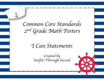 Second Grade Common Core Standards Math Posters - Nautical