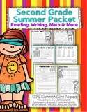 Second Grade Common Core: Summer Packet {Review Reading, Math, Writing, & More}
