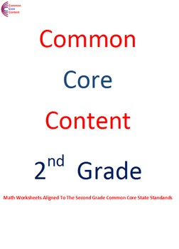 2.NBT Second Grade Common Core Math Worksheets Numbers & Operations in Base Ten