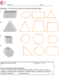 Second Grade Common Core Math Worksheets Geometry  2.G.A.1, 2.G.A.2, 2.G.A.3