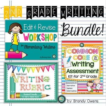 Second Grade Common Core Writing Bundle