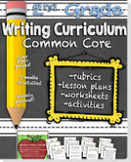 Second Grade Common Core Writing Curriculum for Distant Learning