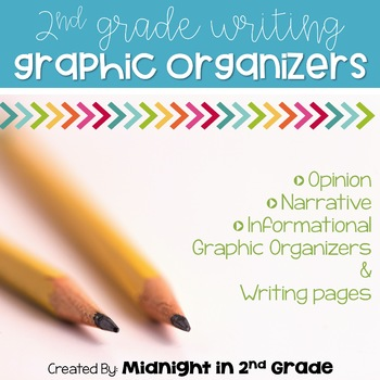 Second Grade Common Core Writing Graphic Organizers & Rough Drafts