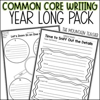 Second Grade Common Core Writing - Narrative, Informative and Opinion