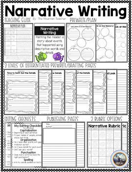 Second Grade Common Core Year Long Writing Pack