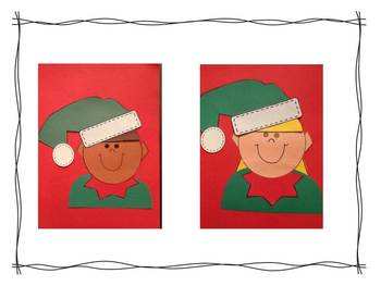 Second Grade Common Core Writing for Christmas with Crafts