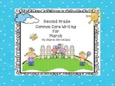 Second Grade Common Core Writing for March with Crafts