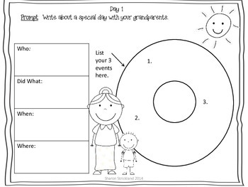 Second Grade Common Core Writing for September with Crafts