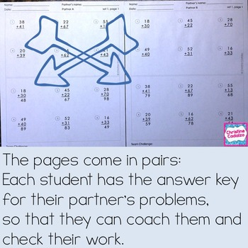 Second Grade Computation Practice Partner Pages- BUNDLE