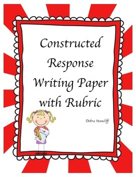 Second Grade Constructed Response Writing paper