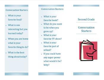Second Grade Conversation Starters