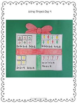 Second Grade Common Core Math-Arrays-2.OA.4-Christmas Themed