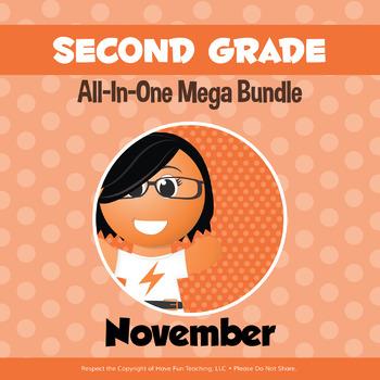 Second Grade Curriculum Bundle (NOVEMBER)