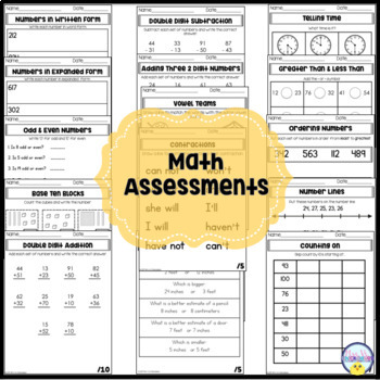 Second Grade Assessments & Data Tracking for the Year (w/ Digital Tracker)