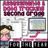 Second Grade Assessments & Data Tracking for the Year (w/