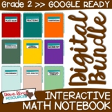 Second Grade DIGITAL Math Interactive Notebook BUNDLE | 2n