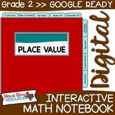 Second Grade DIGITAL Math Interactive Notebook: Place Valu