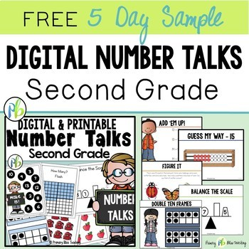 Second Grade DIGITAL Number Talks (5 Day Sample)