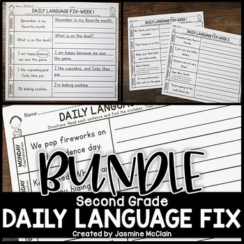 Second Grade Daily Language Fix BUNDLE