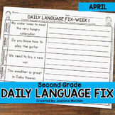 Second Grade Daily Language Fix for April
