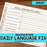 Second Grade Daily Language Fix for August