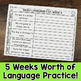 Second Grade Daily Language Fix for December