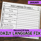 Second Grade Daily Language Fix for January