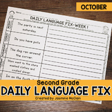 Second Grade Daily Language Fix for October