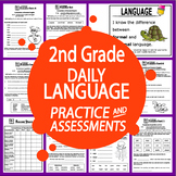 "2nd Grade LANGUAGE Practice and Assessments + 23 FULL COLOR ""I Can"" Posters"