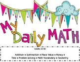 Second Grade Daily Math Review ~ Common Core Based ~ Weeks 21-30
