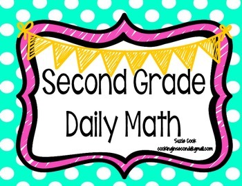 Second Grade Daily Math-SPIRAL REVIEW **100% COMMON CORE**