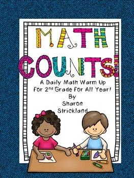 Second Grade Common Core Math- Daily Math Warm Ups