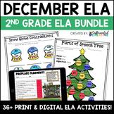 December No Prep Literacy Pack for Second Grade