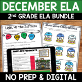 December No Prep Literacy Pack for Second Grade