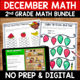 December No Prep Math Pack for Second Grade