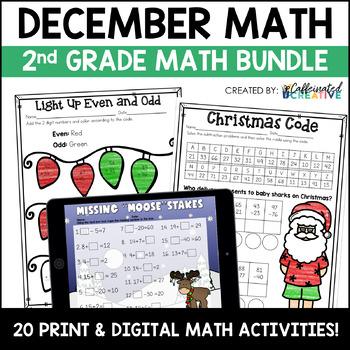 December No Prep Math Pack for Second Grade