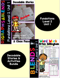 Level 2 Unit 1 Second Grade Decodable Stories & Activities Bundle
