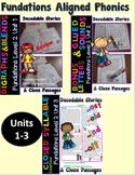 Level 2 Unit 1-3 Second Grade Decodable Stories Bundle