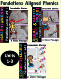 Level 2 Unit 1-3 Second Grade Decodable Stories Bundle