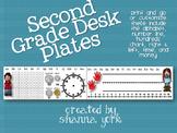 Second Grade Desk Plates