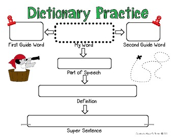 Second Grade Dictionary Practice Page