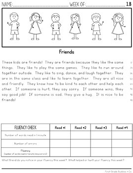 2nd Grade Differentiated Reading Comprehension Passages and Questions   Fluency