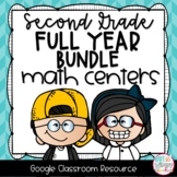 Second Grade Digital Math Centers BUNDLE for Google Classroom