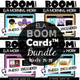 Second Grade Digital Math Warmups Boom Cards™ {ELA} Weeks 25-28 | Daily Language