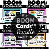 Second Grade Digital Math Warmups Boom Cards™ {ELA} Weeks 21-24 | Daily Language